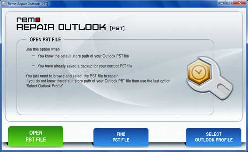 Outlook Recovery Tool - Main Window